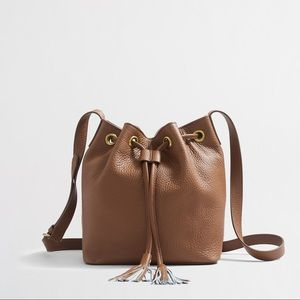 J. Crew Factory Leather Bucket Bag sold out online